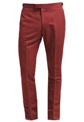 Reiss Bank Trousers Brick Red