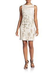 Jax Sequined Shift Dress Champagne