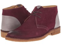 Kenneth Cole Magic Number Wine Men's Lace Up Boots Burgundy