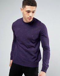 French Connection Crew Neck Knitted Jumper Purple