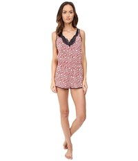 Stella Mccartney Poppy Snoozing All In One Red Hearts Lips Print Women's Jumpsuit And Rompers One Piece Pink