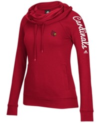 Adidas Women's Louisville Cardinals Funnel Neck Pullover Hoodie Red