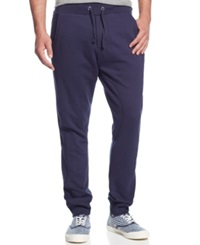 Royal Premium Denim Knit Joggers Navy