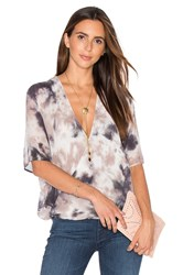 Young Fabulous And Broke H Wrap Blouse Grey