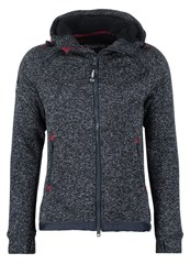Superdry Storm Cardigan Dark Indigo Grit Mottled Dark Grey