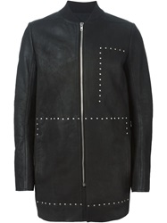Rick Owens Studded Coat Black