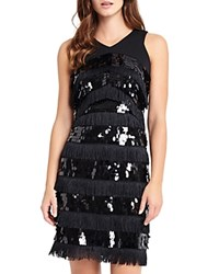 Phase Eight Becca May Sequin And Fringe Dress Black