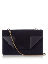 Saint Laurent Betty Medium Suede Shoulder Bag Navy