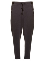 Y 3 Luxe Dropped Crotch Track Pants Black