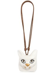 Loewe Hand Painted Cat Face Leather Necklace