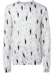Moschino Fox Tail Intarsia Sweater Nude And Neutrals