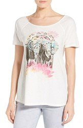 Women's Lucky Brand 'Elephant Drawing' Embellished Graphic Print Tee