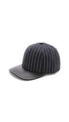 Rag And Bone Leather Brim Baseball Cap