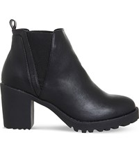 Office Limit Chunky Faux Leather Chelsea Boots Black