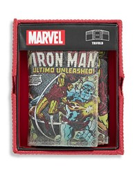 William Rast Iron Man Leather Tri Fold Wallet