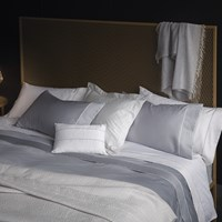 La Perla Nervures Duvet Cover Super King Pearl Grey And White