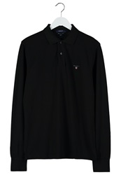 Gant Solid Regular Fit Polo Shirt Black
