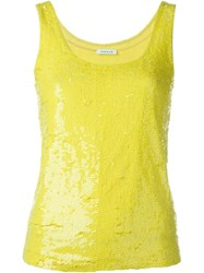 P.A.R.O.S.H. Sequin Tank Yellow And Orange