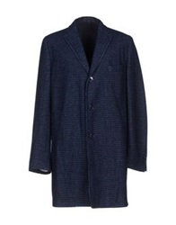 Michelangelo Coats Dark Blue