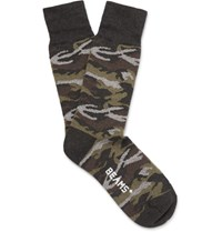 Beams Plus Camouflage Knitted Socks Charcoal