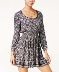 American Rag Printed A Line Dress Only At Macy's Black Combo