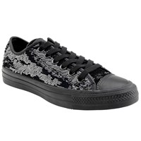Converse Chuck Taylor All Star Canvas Ox Low Top Trainers Glitter Black