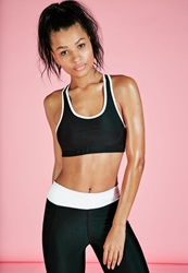 Missguided Active Racer Back Contrast Sports Bra Monochrome