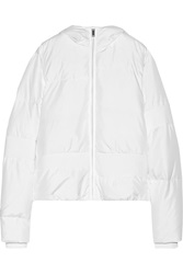 Mm6 Maison Margiela Quilted Shell Hooded Jacket White