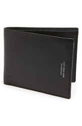 Saturdays Surf Nyc Leather Bifold Wallet Black