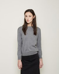 La Garconne Moderne High Crewneck Heather Grey