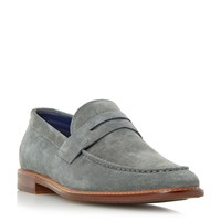 Dune Bates Casual Penny Loafers Grey