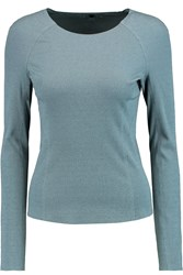 Theory Foxie Stretch Twill Top Blue