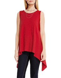 Vince Camuto Paisley Lace Insert Sharkbite Tank Red