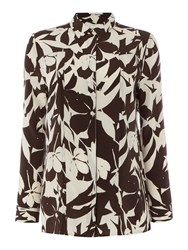 Linea Limited Printed Silk Shirt Multi Coloured