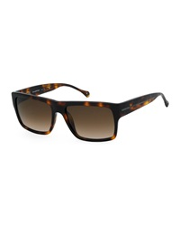 Ermenegildo Zegna Square Dark Havana Sunglasses Brown