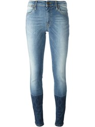 Vivienne Westwood Anglomania Panel Cuffed Jeans Blue