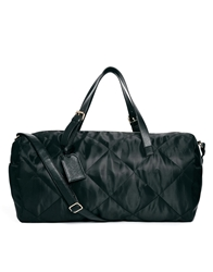 Asos Quilted Nylon Holdall Black