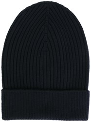 Dolce And Gabbana Ribbed Beanie Blue