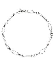 John Hardy Bamboo Sterling Silver Slim Sapling Link Station Necklace
