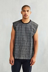 Shades Of Grey By Micah Cohen Windowpane Muscle Tee Charcoal