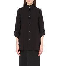 Issey Miyake Relaxed Cotton Blend Shirt Black