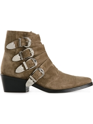 Toga Pulla Buckled Ankle Boots Nude And Neutrals