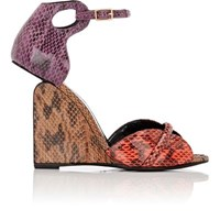 Pierre Hardy Women's Colorblocked Snakeskin Wedge Sandals No Color