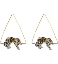The Conran Shop Nach Bijoux Leopard Earrings Gold
