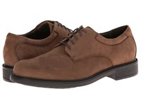 Rockport Big Bucks Margin Espresso Nubuck Men's Dress Flat Shoes Brown