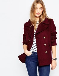 Asos Jacket With Oversized Collar Berry