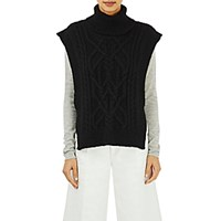 Isabel Marant Women's Cable Knit Grant Turtleneck Vest Black