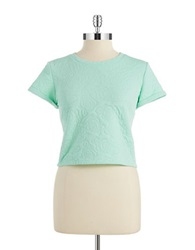 Design Lab Rose Quilted Crop Top Mint