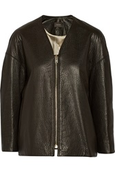 Isabel Marant Camelia Textured Leather Jacket Black