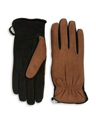 Isotoner Sherpa Lined Suede Gloves Luggage